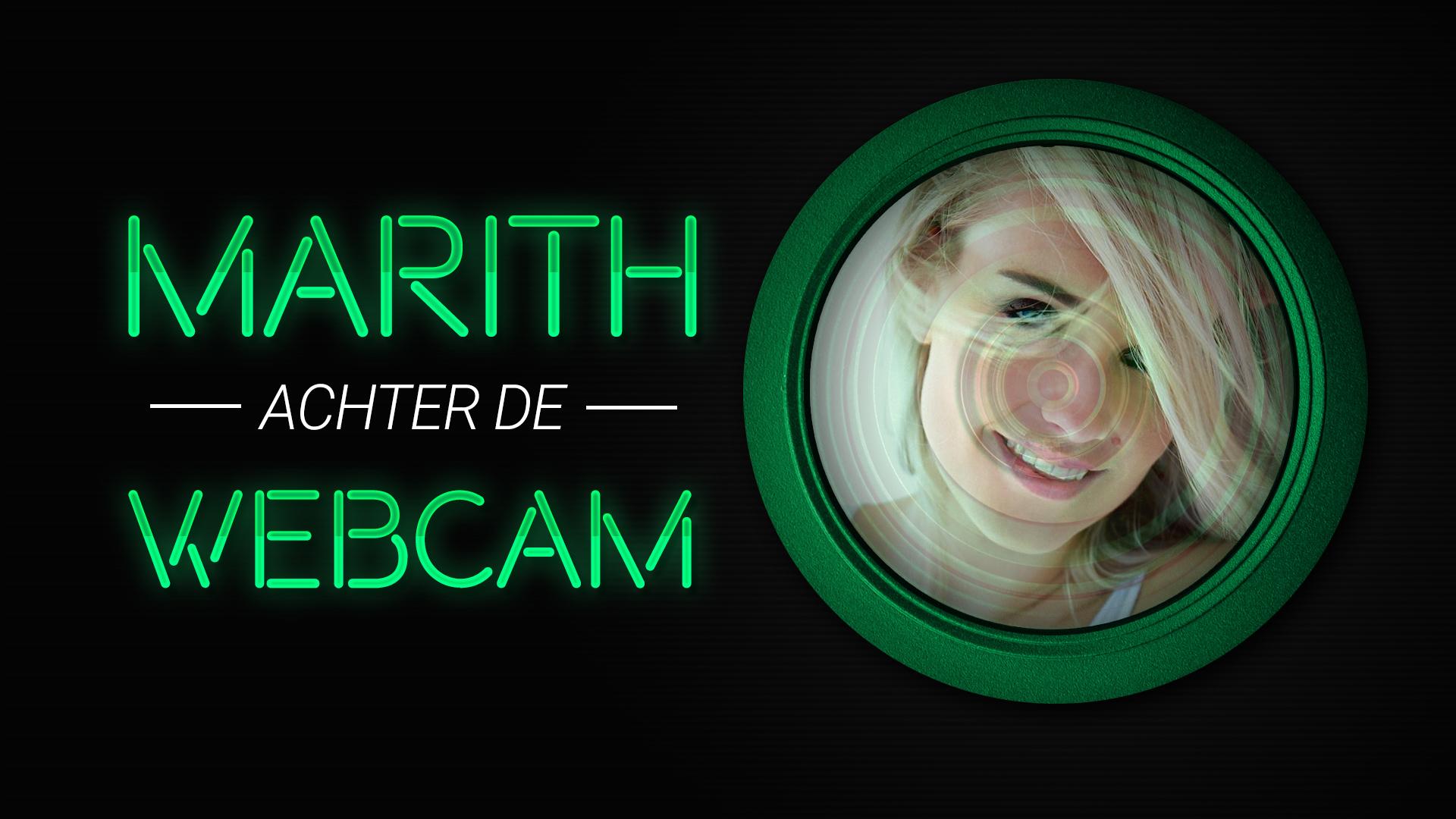 Geile foto van de hete Secret Circle seksfilm: Marith achter de webcam