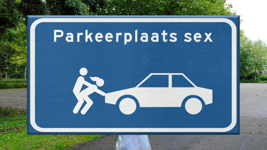 Geile foto van de hete Meiden van Holland programma: Parkeerplaatssex