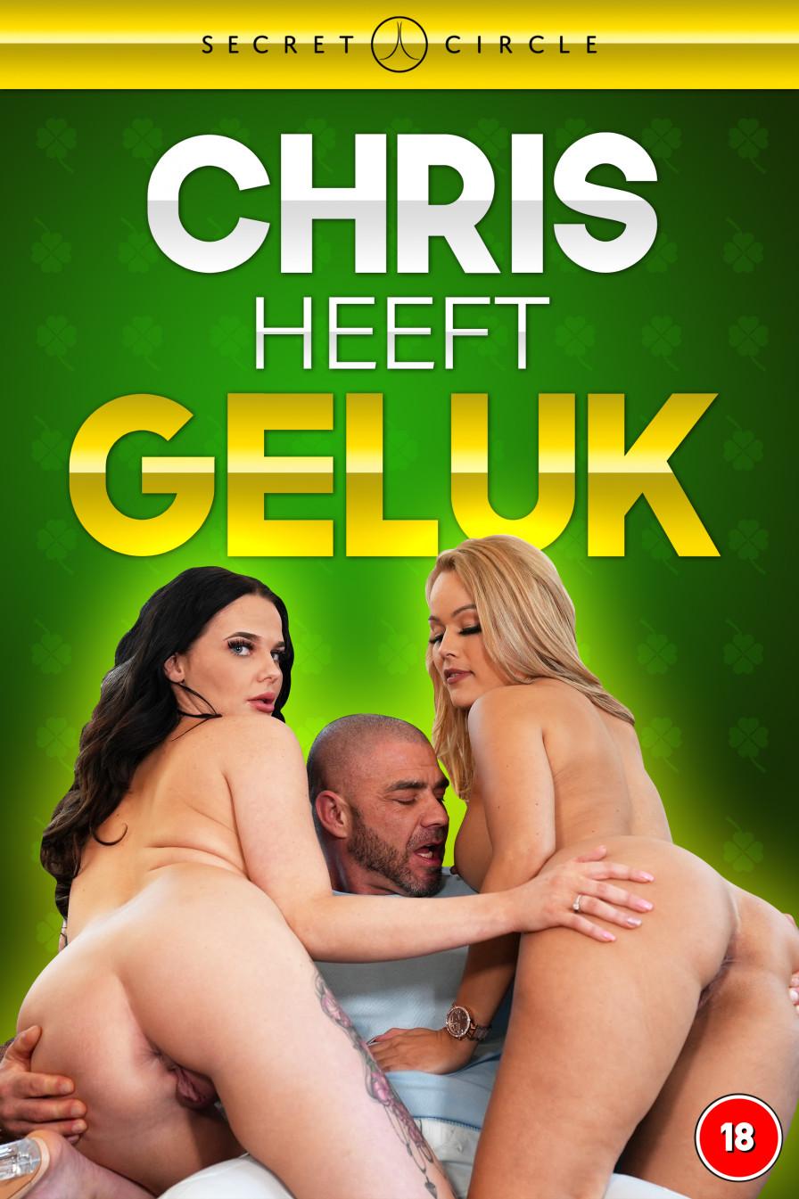 Geile foto van de hete Secret Circle seksfilm: Chris heeft geluk